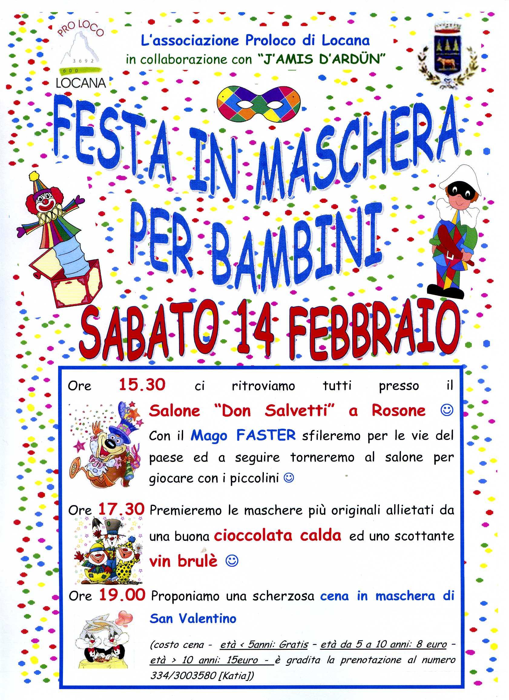 Festa in maschera per bambini - Comune di Locana f1a8f63ab6d2